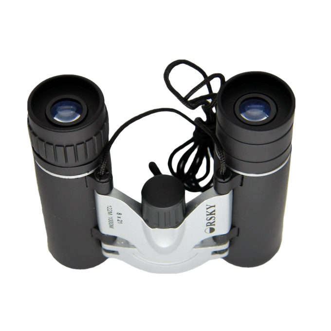 8x Magnification Small Size Long Range Binoculars For Games Watching / Hunting