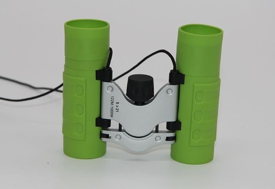 China Green 8x21 Children's Toy Binoculars , Small Outdoor Hunting Binoculars For Kids supplier