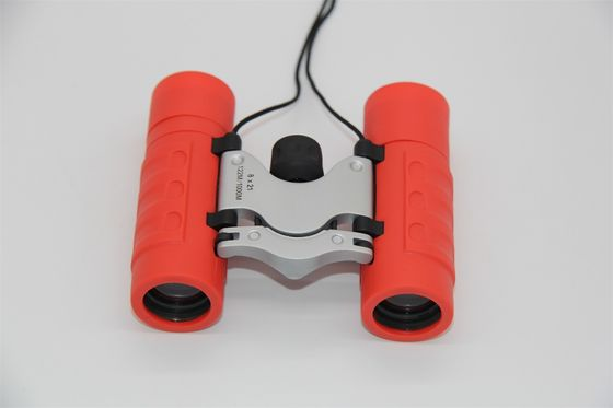 China Portable Red Children's Toy Binoculars , 8x21 Outdoor Hunting Binoculars For Kids supplier