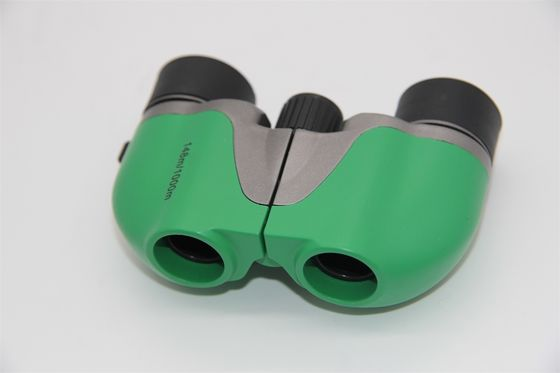 China Girl Folding Small Porro Binoculars , Lightweight 5x15 Green Small Binoculars For Birding supplier