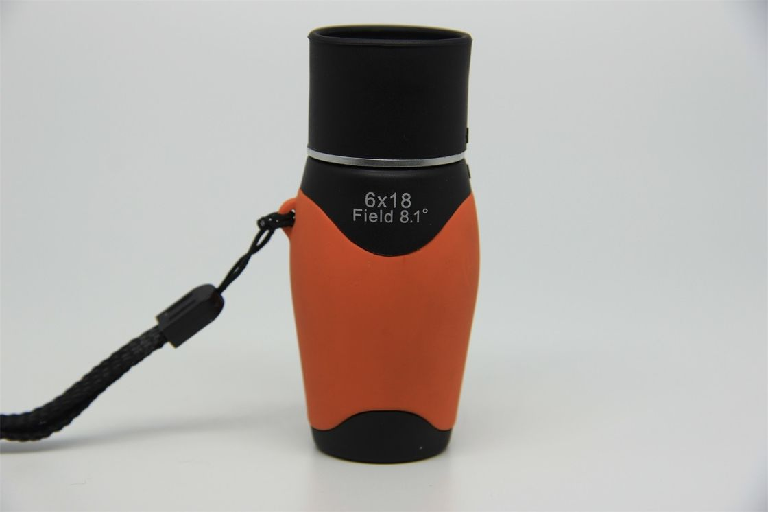 Cute orange color pocket monocular telescope with extra wide field