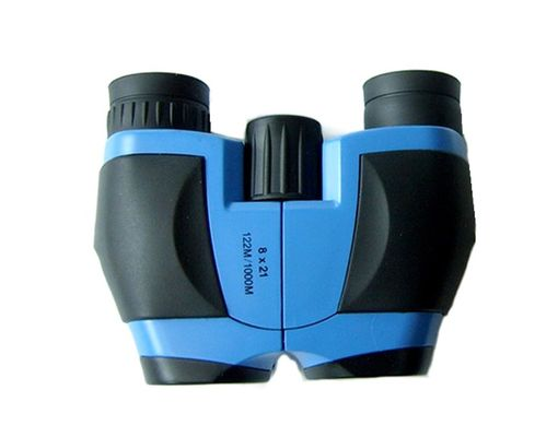China Folding 8x21 Small Porro Binoculars Lightweight Blue , Yellow And Green factory
