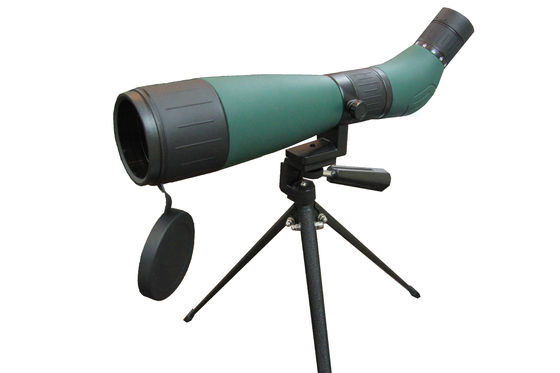 Army Green Angled Spotting Scope Easy Cleaning With Blue Film Coating Lens