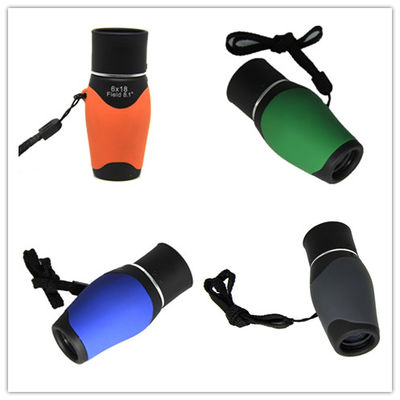 Kids / Adult Lightweight Travel Binoculars BK7 Prism 18mm Objective Diameter