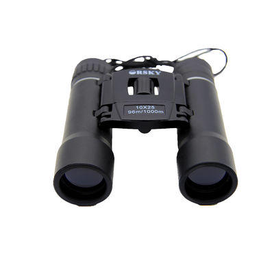 10x25 Long Range Lightweight Travel Binoculars 10.5mm Eye Relief For Games Watching