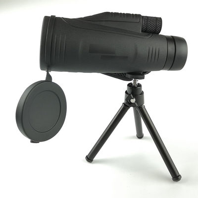 Magnification 12x High Powered Monocular Bright With Tripod Optical Glasses Lens Material