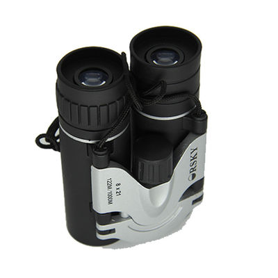 China HD Roof Prism Binoculars Small Strong Binoculars 8x Magnification Black Color factory