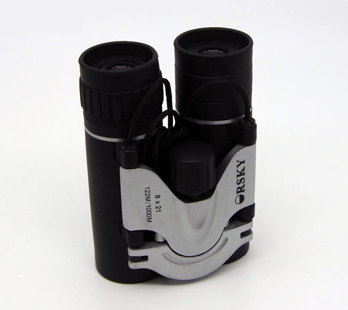 Telescope 10x25 Durable Compact Folding Binoculars For Adlut Black Color